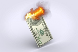 Inflation Burning Dollar