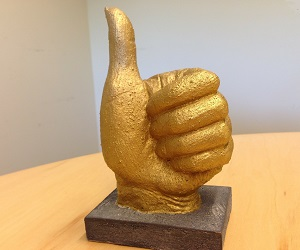 Gold Thumbs Up